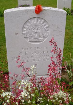 Otha Bassett headstone