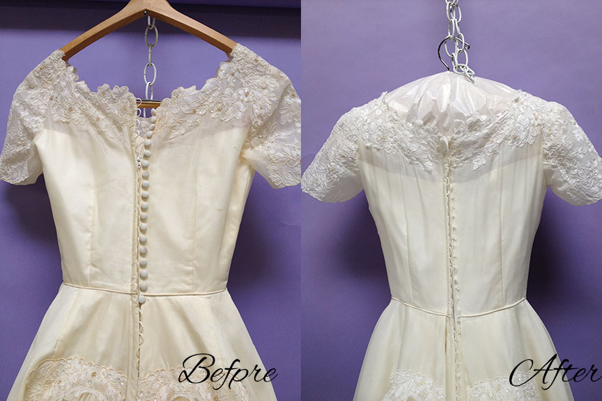 Wedding Dress Restoration For 60 Year-Old Gown