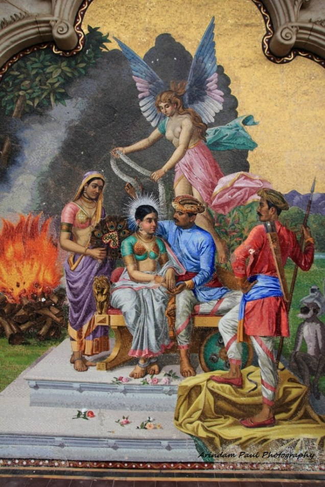 Coronation of King By Caucacian Fairy: Courtesey: Laxmi Vilas Palace