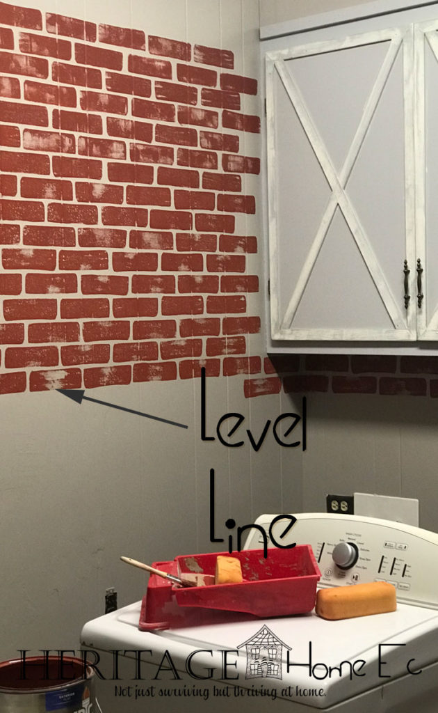 DIY Faux Brick Paint Tutorial- Heritage Home Ec | Faux Paint | Faux Brick | Home Decor | Tutorial | Home Economics |