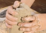 All-Natural Non-Toxic Play Clay- Heritage Home Ec Need something new to keep the kiddos busy? Try making them some of this All-Natural Non-Toxic Play Clay. It's pliable but able to dry for permanent crafts. | Crafts | Kids | Activities | Home Economics |