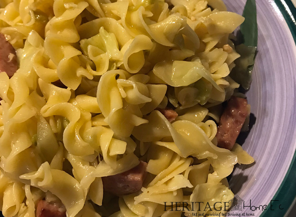 country cabbage and noodles recipe