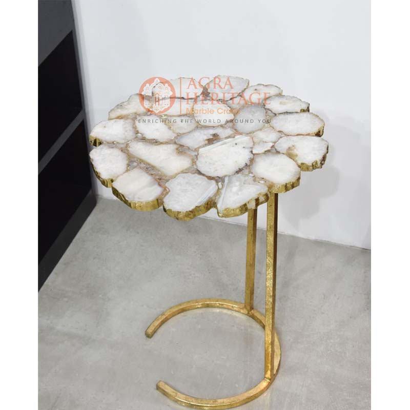 agate round center coffee table top for sale