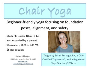Chair Yoga @ Heritage Public Library | New Kent | Virginia | United States