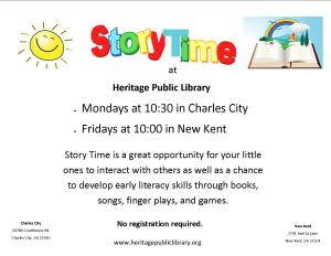 Story Time - NK @ Heritage Public Library | New Kent | Virginia | United States