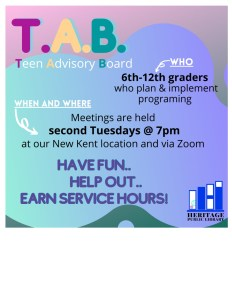 Hybrid T.A.B. Meeting - NK @ Heritage Public Library | New Kent | Virginia | United States