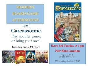 Modern Board Game Afternoons @ New Kent Library
