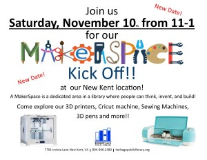 Makerspace Kickoff @ Heritage Public Library | New Kent | Virginia | United States
