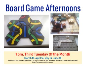 Strategic Board Games @ Heritage Public Library | New Kent | Virginia | United States