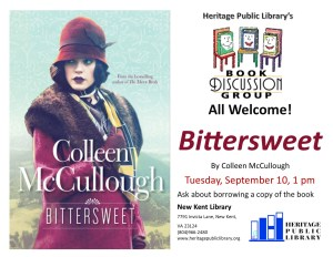 Book Discussion Group @ Heritage Public Library | New Kent | Virginia | United States