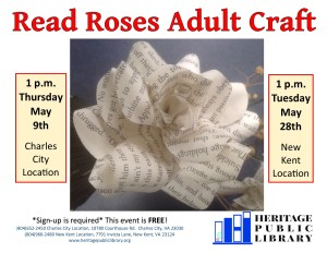 Adult Craft - Read Roses @ Heritage Public Library | New Kent | Virginia | United States