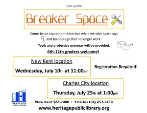 Breaker Space @ Heritage Public Library | Charles City | Virginia | United States