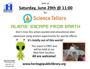 Science Tellers @ Heritage Public Library | New Kent | Virginia | United States