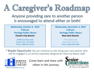 A Caregiver's Roadmap - NK @ Heritage Public LIbrary | New Kent | Virginia | United States
