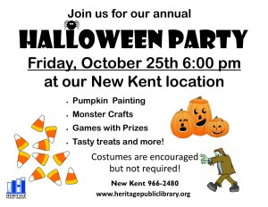 Halloween Party @ Heritage Public LIbrary | New Kent | Virginia | United States