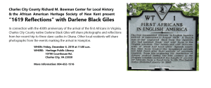 """1619 Reflections"" with Darlene Black Giles @ Charles City"