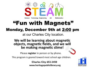 Fun with Magnets @ Heritage Public Library | Charles City | Virginia | United States