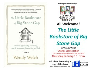 Book Discussion Group -CC @ Heritage Public Library | Charles City | Virginia | United States