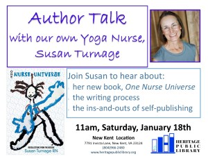 Author Talk with Yoga Nurse Susan Turnage @ Heritage Public Library | New Kent | Virginia | United States