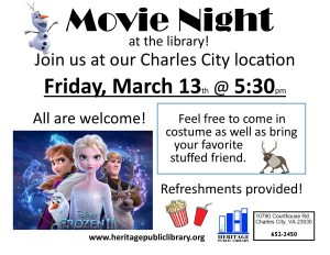 Movie Night at the Library! @ Heritage Public Library | New Kent | Virginia | United States