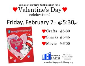 Valentine Craft & Movie Night! @ Heritage Public Library | New Kent | Virginia | United States