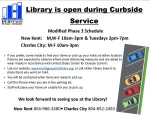Curbside Service & OPEN - CC