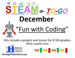 "STEAM to-go: ""Coding for Kids"""