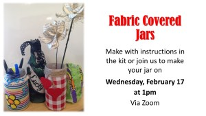 Fabric Jar Craft Pick-up begins
