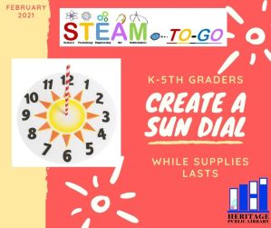 STEAM To-Go Sundial pick-up begins for K-5th