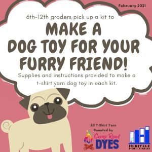 """""""Love your dog"""" Craft pick-up begins for 6-12th grades"""