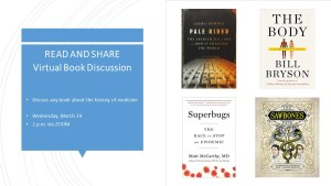 Read and Share Virtual Book Discussion