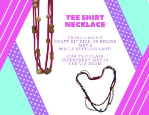 Adult & Teen Craft - Tee Shirt Necklace