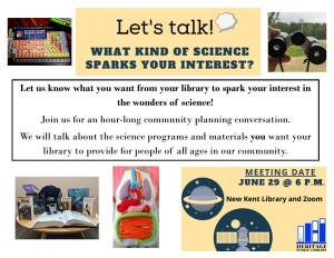 Let's Talk! What Kind of Science Sparks your Interest? @ Heritage Public Library | New Kent | Virginia | United States