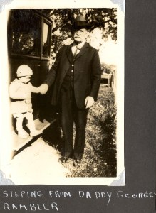 Edward A. McMurray, Jr., with his grandfather George A. Roberts, about 1926.