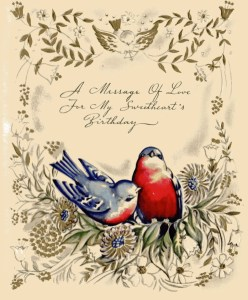 1940s Birthday Card- Front