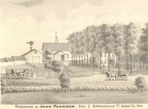 Tipton, Cedar Co. Farm- Engraving