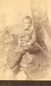 A portrait of samuel J. Lee taken in St. Louis, Missouri. He appears to be about 3 or 4, so this would have been taken around1882-3.