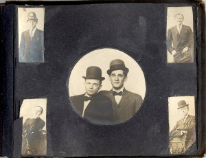 Unknown people in a photo album probably owned by Bess Dorothy Green, p.34.