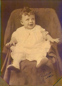 Mary Theresa Helbling as a baby, 1925.