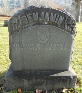 1901_BENJAMIN_Edson_Martha Jennie Slade-headstone_odd Fellows cem_The Dalles_OR_FAG_permission