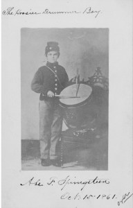 """The Hoosier Drummer Boy,"" Abram F. Springsteen, 15 Oct 1861"