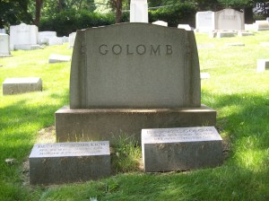 GOLOMB Family Plot- Marker, Bnai Israel Cemetery, Pittsburgh PA. With kind permission of FAG photographer.