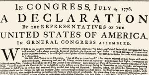 Original US Declaration of Independence- note differences in wording from today's version.
