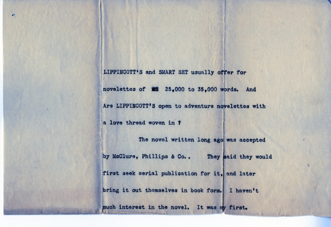 December 28, 1901 letter from Jack London to Dan [Murphy?], page 2. Published with permission of the Edwin Markham Archive, Horrmann Library, Wagner College. (Click to enlarge.)