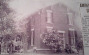 Home of Henry Edwin Aiken and his second wife Lizzie Schmink. The young woman and man may be William Hanford Aiken and his wife Dora J. Russell. A family picture provided by a kind collaborator, DB.