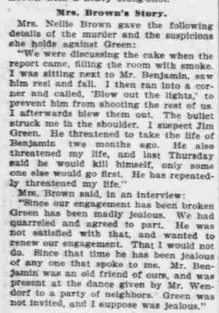 """Points to Green,"" The Morning Oregonian,(Portland, Oregon) March 26, 1901, Volume 41, Number 12,569, Page 4, Columns 1-3, Part 4. Public Domain."