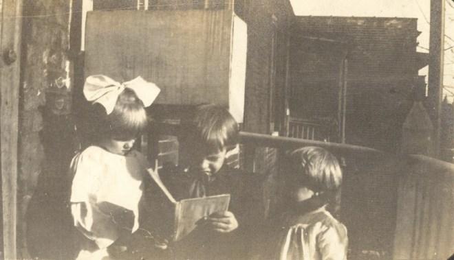 c1914- Edgar Helbling reading.