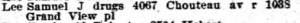 Gould's 1917 City Directory listing for Samuel J. Lee. Ancestry.com