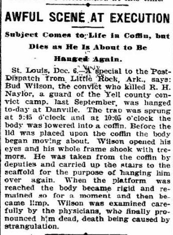 Awful Scene at Execution. 07 Dec 1901, Anaconda Standard, Anaconda Montana, v13, n87, p2, c4. Ancestry.com.