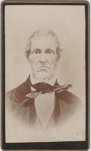 Unknown man- reprint of c. 1850s photo by J. A. Vail, Photographer, Marion, Ohio. Found in front of Samuel T. Beerbower family bible.